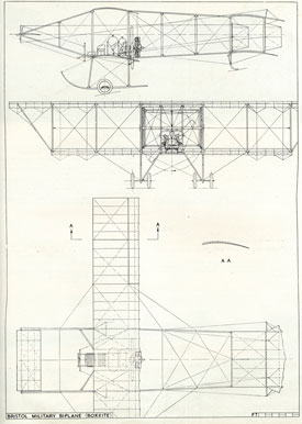 Plan drawing of Boxkite (Bristol Aero Collection).