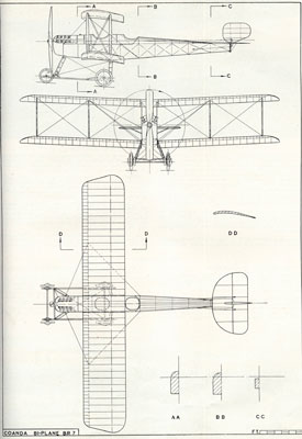 Plan drawing of Coanda biplane (Bristol Aero Collection).