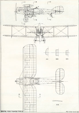 Plan drawing of Fighter (Bristol Aero Collection).