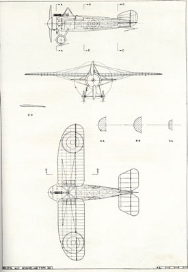 Plan drawing of M1C (Bristol Aero Collection).