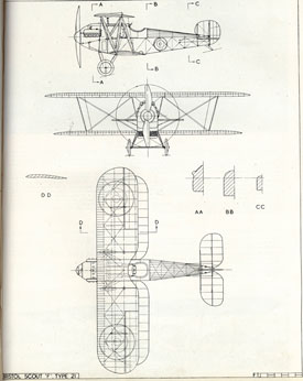 Plan drawing of Scout (Bristol Aero Collection).