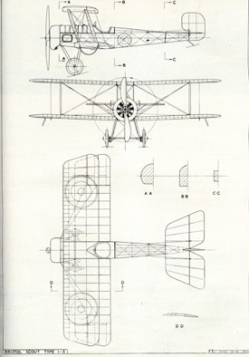 Plan drawing of Scout variation (Bristol Aero Collection).