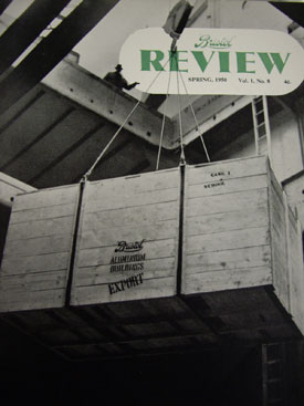 Bristol Review cover showing crates of exported pre-fab schools (Bristol Aero Collection).