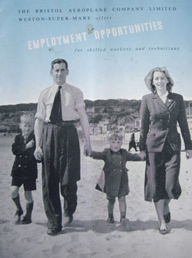 Pictures from brochure promoting BAC employment opportunities in Weston-super-Mare (Special Collections, Bristol Central Library).