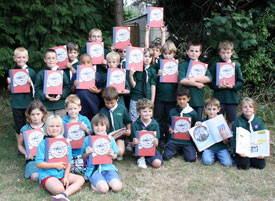 2nd Patchway Beavers with their books.