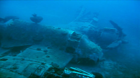Bristol Beaufighter shot down in the war discovered on the sea bed.